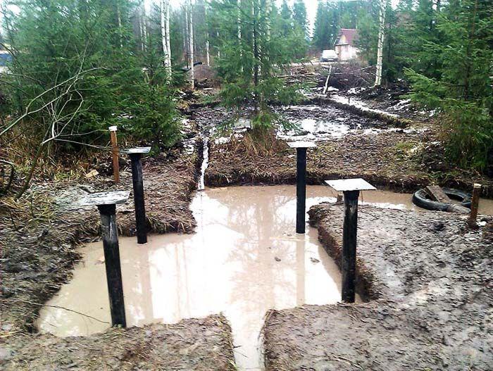 Подтопление, высокий уровень грунтовых вод для свайно-винтового фундамента не проблема
