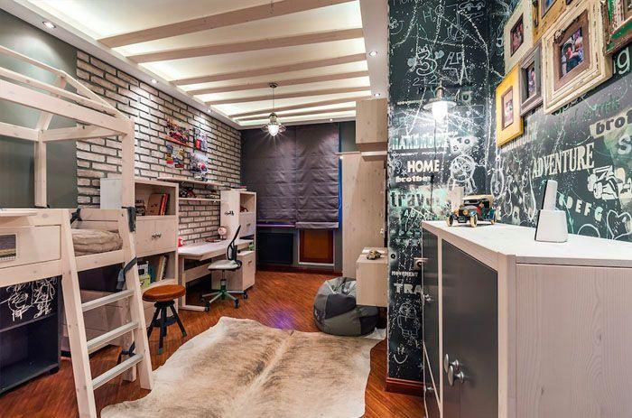 Детская комната, оформленная в стиле лофт