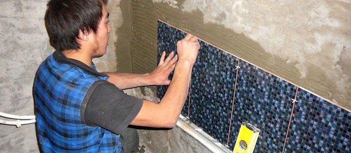 Финишная отделка стен – облицовка керамической плиткой
