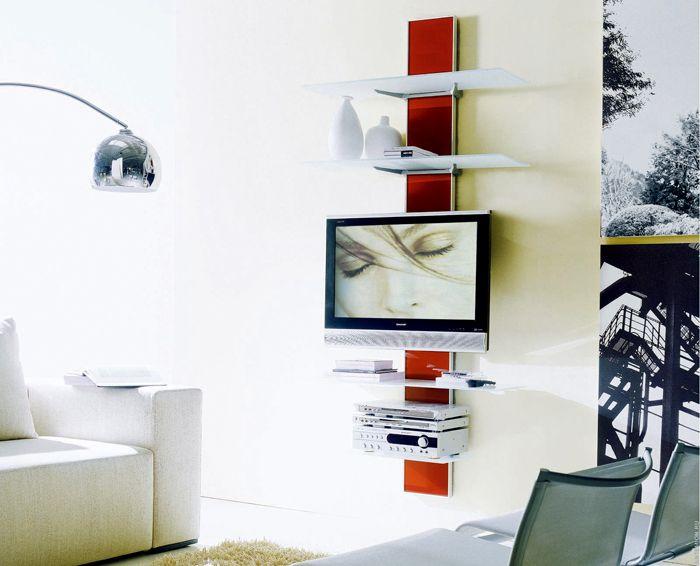 Полки для оформления участка с телевизором