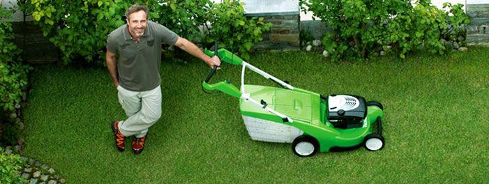 Мощная газонокосилка «Викинг», но манёвренность оставляет желать лучшего