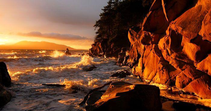 Пейзажи с тёплыми цветовыми красками дают ощущение покоя и умиротворения