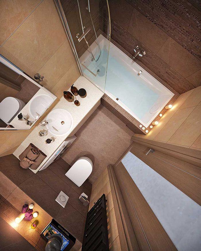 Идеальная планировка ванной площадью 4 м²