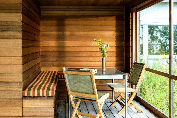 Отделка стен натуральной древесиной