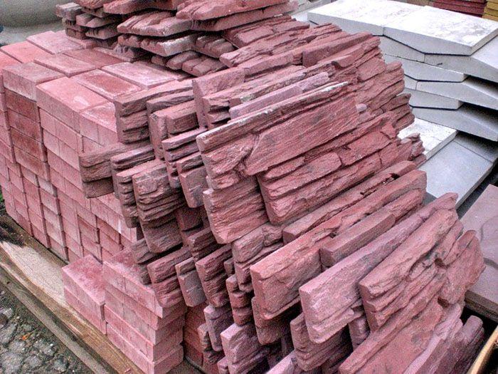 Камни из бетона для облицовки