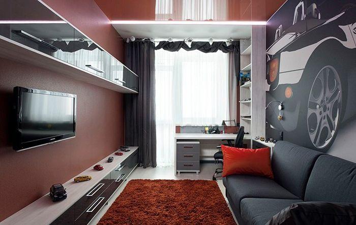 Гостиная в квартирев стиле хай-тек
