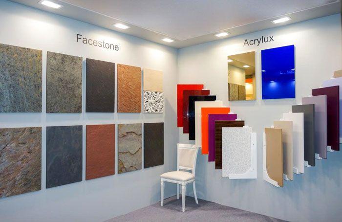Акриловые панели отличаются насыщенностью и разнообразием цветовых решений