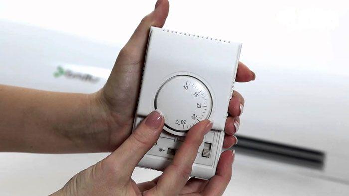 Используя дистанционный блок управления, можно выставить температурный режим и силу потока воздуха