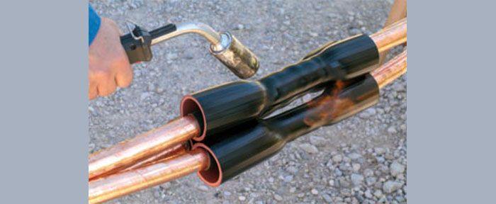 Использование горелок наиболее эффективно при монтаже соединительных муфт и концевых заделок силовых электрических кабелей