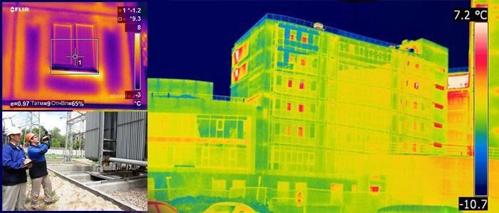 В техническом отчёте на тепловизионное обследование зданий и сооружений обязательно должны быть термограммы исследованного строения