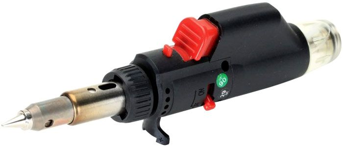 Портативный газовый паяльник легко справится с трубками небольшого диаметра