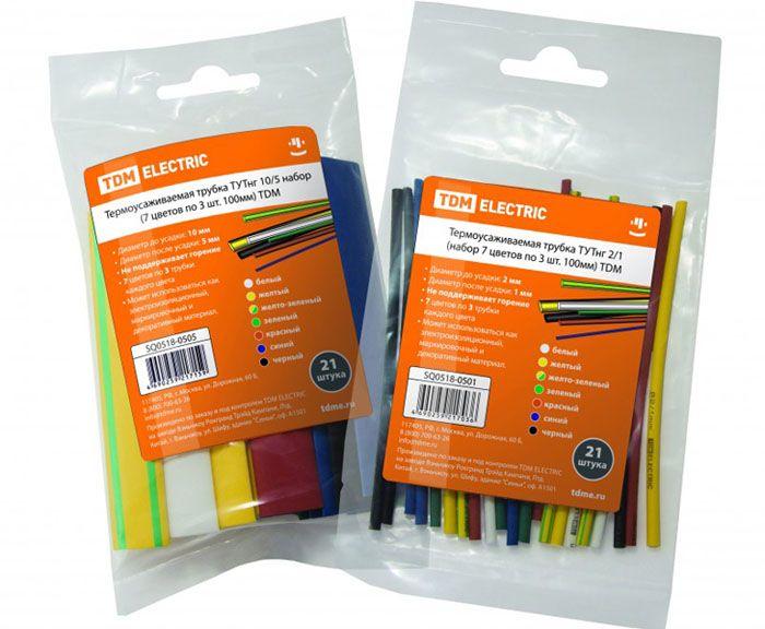 Термоусаживаемая трубка продаётся в наборах с разным количеством цветов и различной длины, а также в бухтах, роллах и боксах одного цвета в погонажном исчислении