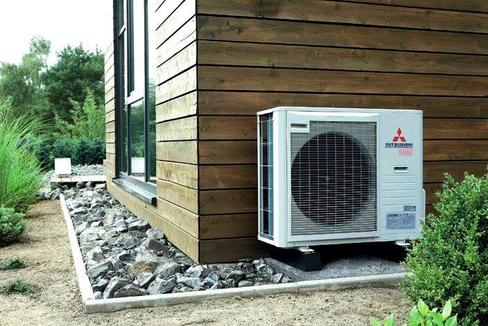 Тепловой насос «воздух–воздух» внешне похож на кондиционер