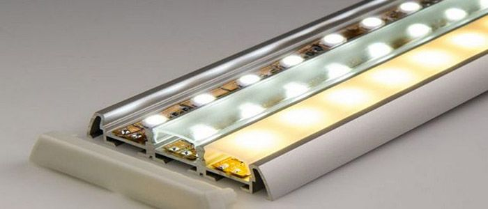 Профили для LED лент изготавливаются из различных материалов
