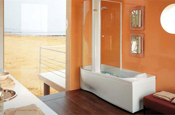 Душевой бокс с ванной модель «TWIN TOWER CORNER» занимает мало места и удобен при использовании