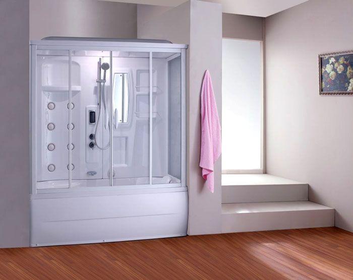 Душевая кабина с ванной модель «Am.PmBourgeois» с паром