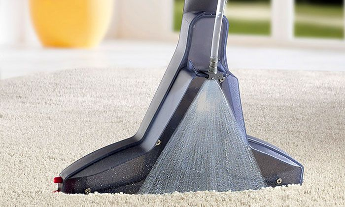 Распыление моющего раствора осуществляется под высоким давлением
