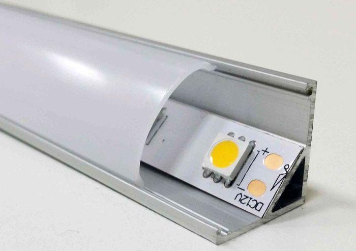 Угловая модель, оснащённая светодиодной лентой