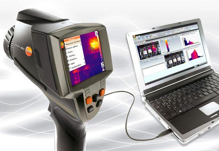 Используя модель «Testo 882», можно без труда выполнить энергоаудит любого объекта