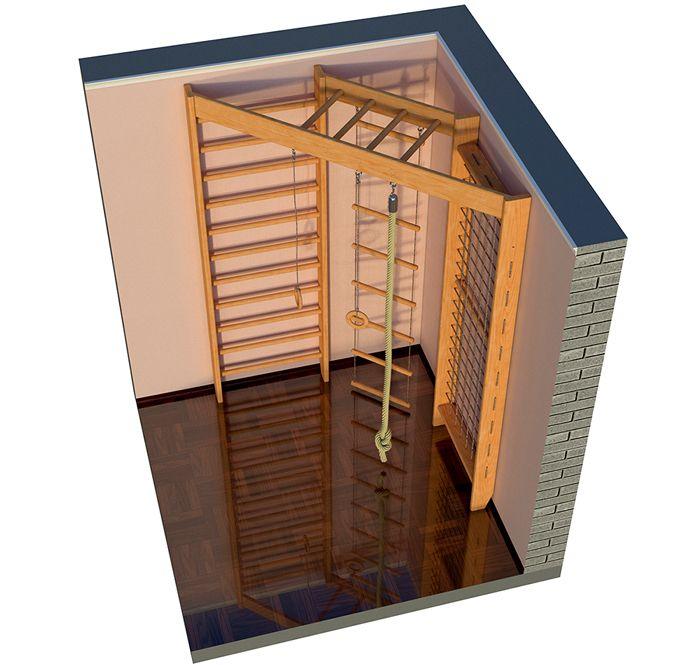 Конструкция «Уголок» занимает мало места и удобно вписывается в любой интерьер