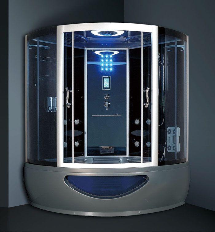 Душевая кабина с ванной может быть оснащена джакузи и системой инфракрасного облучения, средствами связи и медиаустройствами
