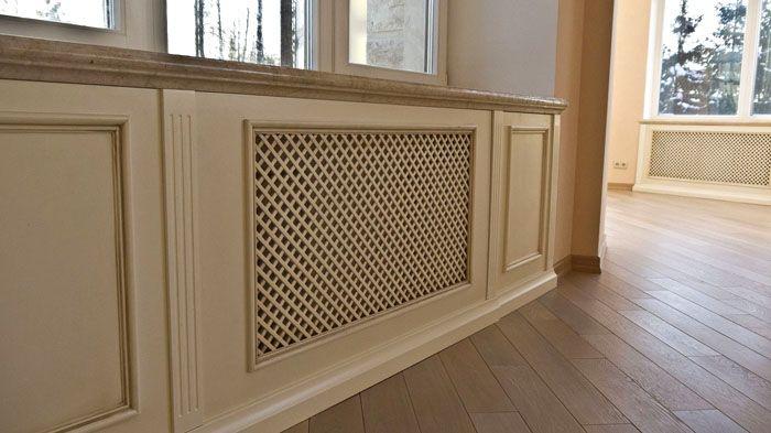 Если панель ещё имеет и столешницу, под ней скапливается горячий воздух, и отопительный прибор в результате больше отапливает наружную стену здания, чем внутреннее пространство помещения