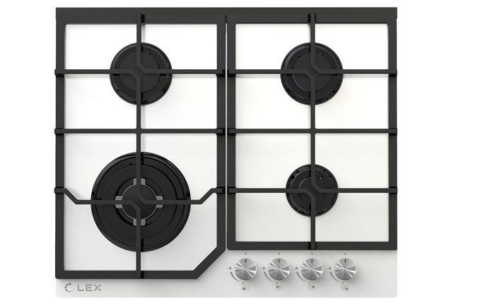 Техника из белого стекла смотрится на кухне элегантно