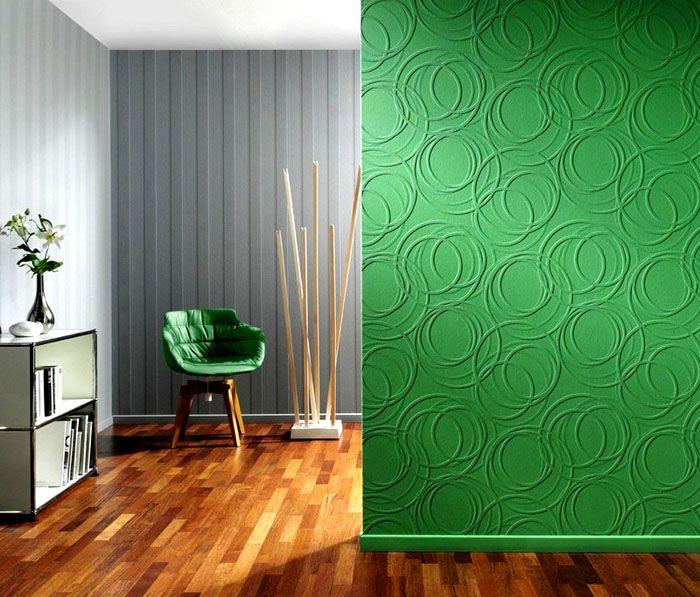 Такой материал прекрасно смотрится в дизайне за счёт своей текстуры