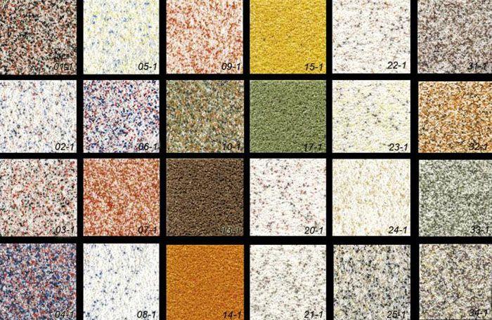 Цветовая гамма материала многообразна