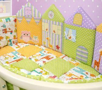Бортики в кроватку для новорождённых: фото