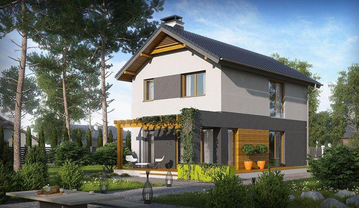 Проект дома из газобетона R279