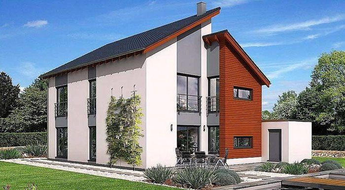 Проект дома из газобетона ГБ47 площадью 163,9 м2 с гаражом