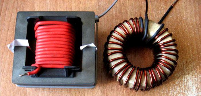 При самостоятельном изготовлении сердечник может быть выбран различной формы и конструкции