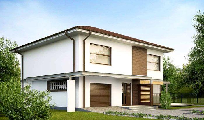 Двухэтажный дом с гаражом и «вторым светом»