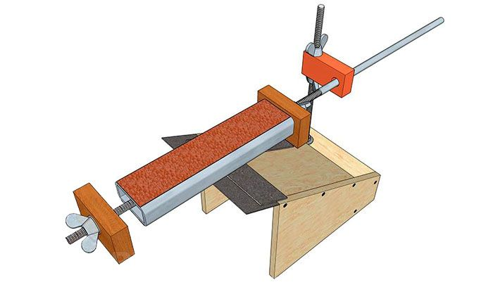 Ручной заточной станок, изготовленный из подручных материалов