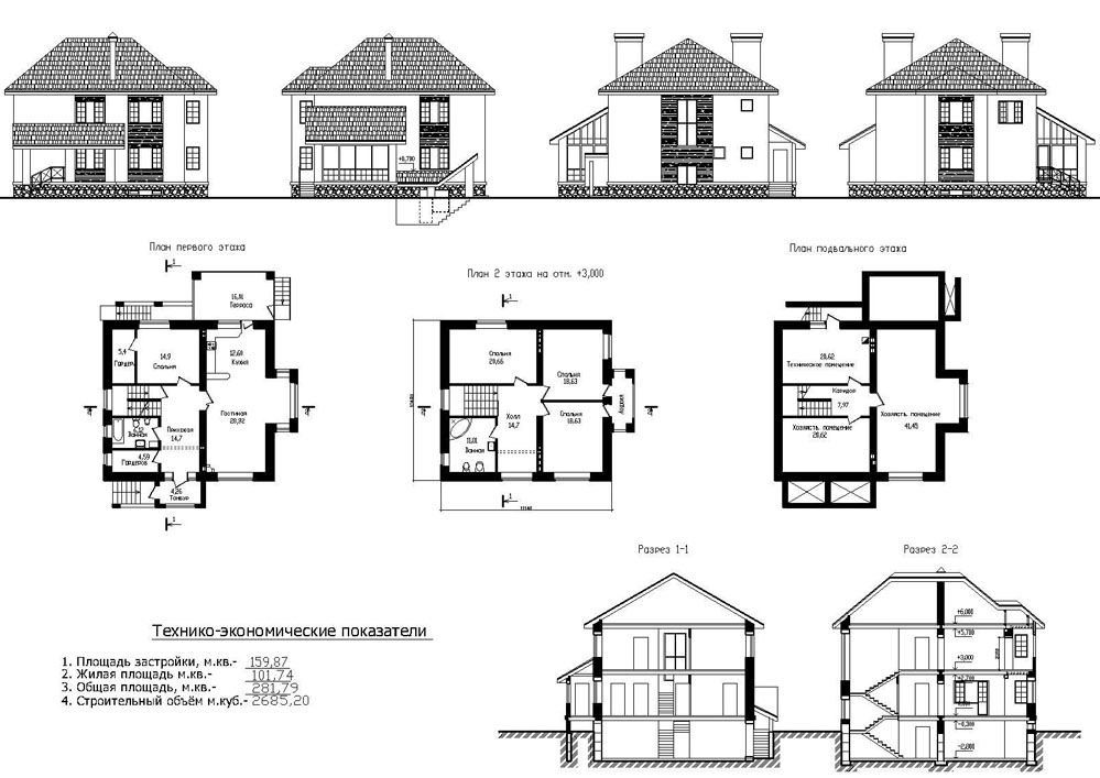 При выборе типового проекта технико-экономические показатели объекта строительства являются важным критерием, помогающим сделать правильный выбор