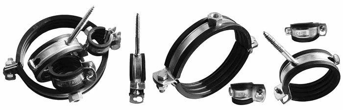 Крепёжные изделия должны обеспечивать надёжную фиксацию трубопроводов в местах их прокладки