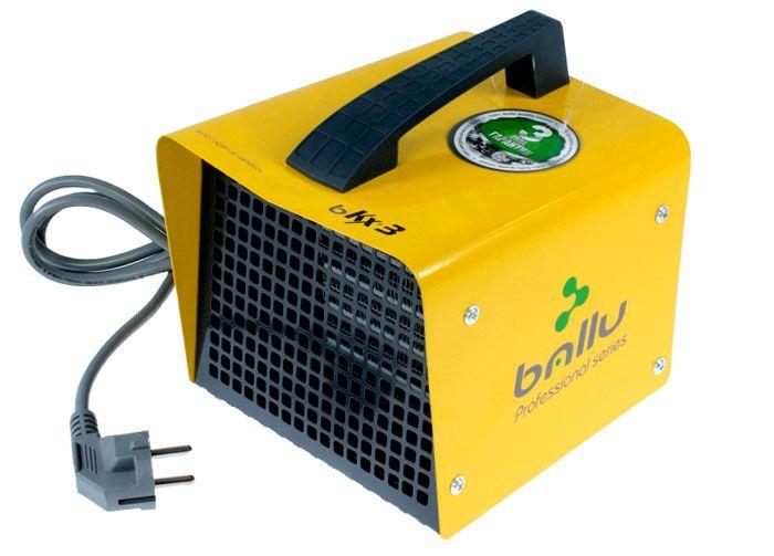 Тепловая электрическая пушка модель «Ballu BKX-3» мощностью 2кВт, оснащённая керамическими нагревательными элементами