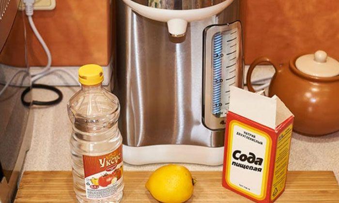 Использование пищевой соды, лимона и уксуса – наиболее распространённые народные методы борьбы с накипью в домашних условиях