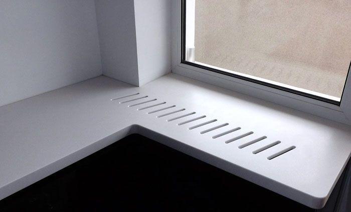 Один из нетрадиционных способов оформления вентиляционных отверстий на подоконной доске
