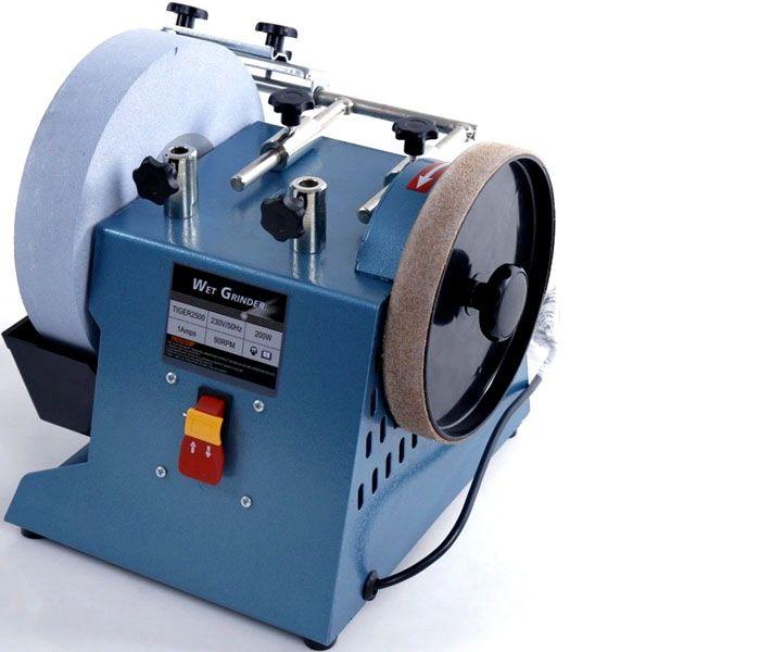Электрический заточной станок, работающий с использованием искусственных абразивный кругов