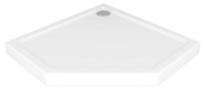 Акриловый поддон для душа размером 900×900 мм серии «BAS Диамант», выполненный в виде пятиугольника