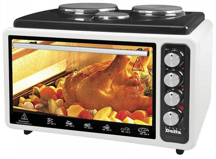 Электрическая духовка с варочной панелью – это многофункциональный прибор, совмещающий в себе все устройства, необходимые на даче для приготовления пищи