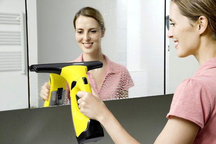 С помощью Керхер можно легко помыть зеркала с высоким качеством выполненной работы