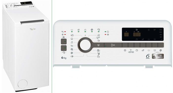 Внешний вид и панель управления стиральной машины модель Whirlpool TDLR 60230
