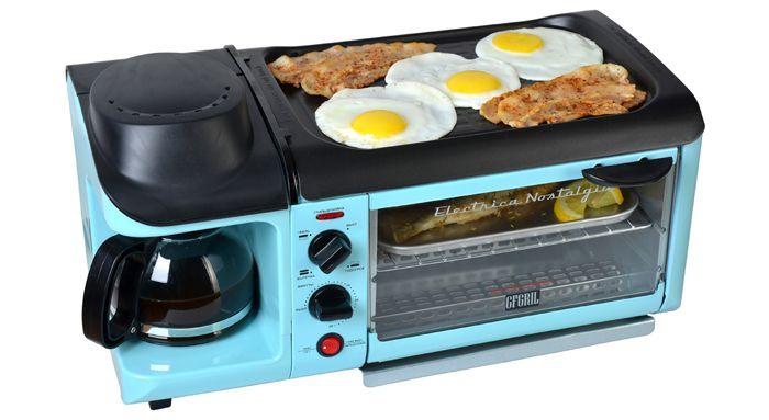 Универсальная электропечь модель «GFgril GFBB-9 Breakfast Bar» совмещает в себе все элементы кухонной техники, чтобы быстро приготовить завтрак, не отходя от неё