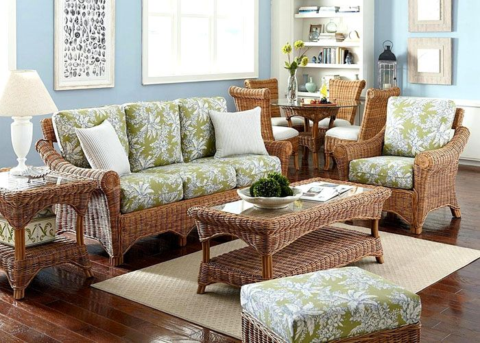 Допустимо использовать плетёную мебель из ротанга или лозы