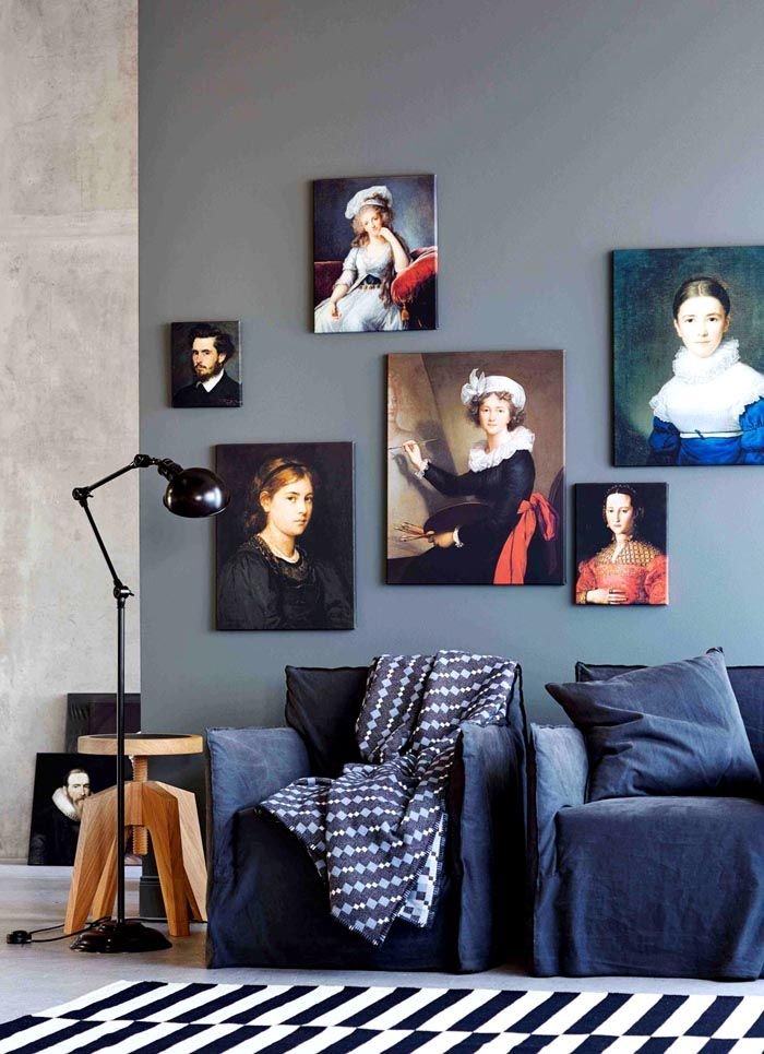 Портретная тематика идеально подошла под дизайн комнаты