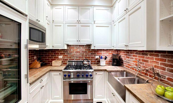 Стеновая панель для кухни под кирпич от ALBICO