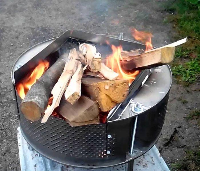 Угли для шашлыка нагорают быстро, и процесс приготовления мяса значительно ускоряется